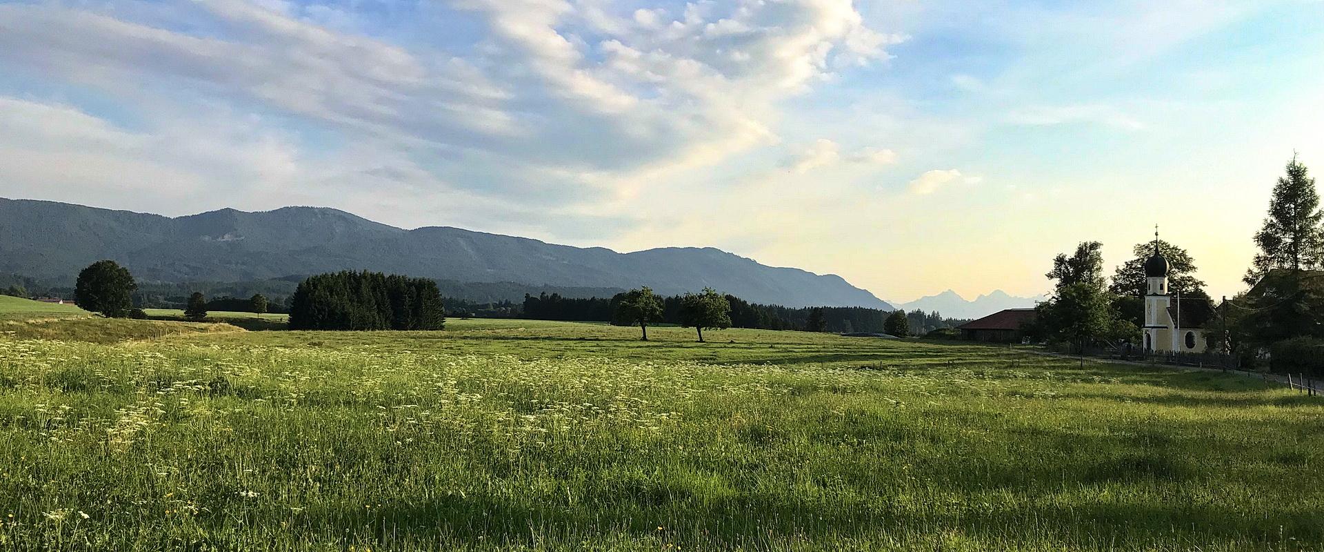 ... mit Blick auf das Alpenvorland.